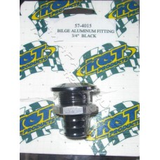 bilge aluminium fitting black [57-4015]
