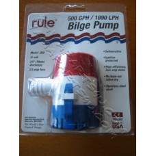 RULE Bilge Pump 500gph NEW [25D]